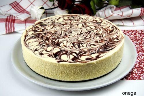 Pastel de Crema de Chocolate Blanco para dos