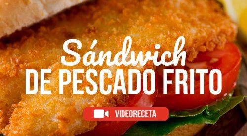 Sandwich de pescado frito